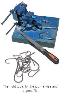 Gamefishing sharpening hooks the fishing website for How to sharpen fishing hooks