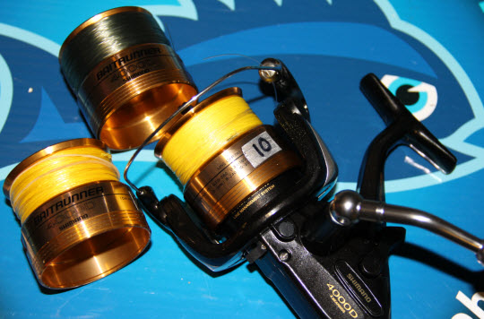 Shimano Baitrunner 4000D with spare spools
