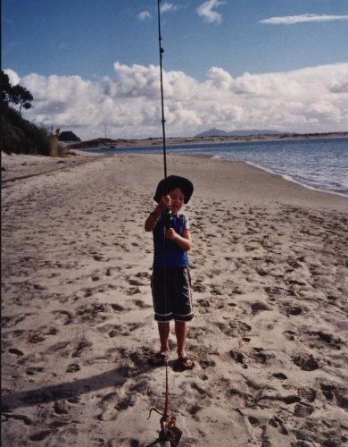 Grandson Hamish with his Octopus of beach