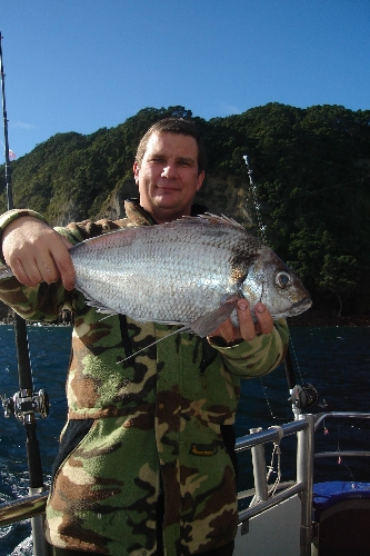 Caught this nice 4.3lb Terahiki while on board charter vessel Deepstar.