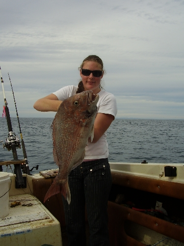 Rochelle catches her first ever snapper