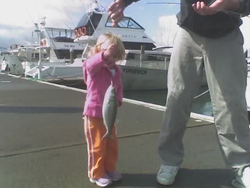 Robyns  3yrs old an this is her first fish