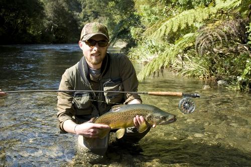 Good fishing in a small Wellington mountain stream
