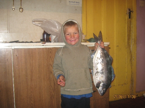 oscar 4yrs with his 1st catch