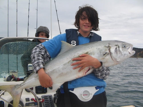 This is my son Steens' first livebait kingi.