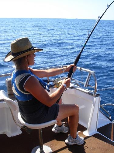 Bringing in the big one - Kingfish