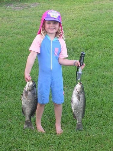 Greer Mclarenage 4  first Porory caught by herself