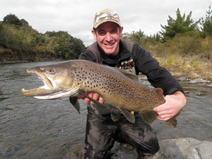 Top Tongariro guide Andrew Christmas with another great Brown