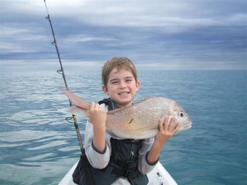 Kurt Penberth, 8yr old kayak fishing guru.