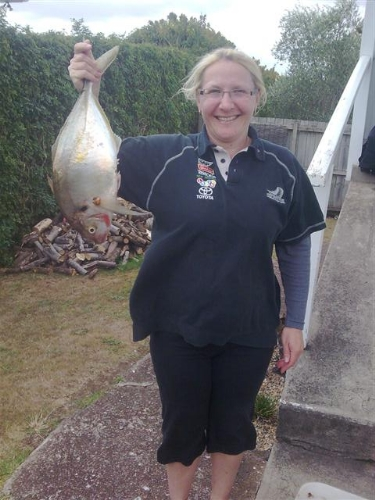 Sarah Becker caught this today - 52cms long on the rule. (no scales)