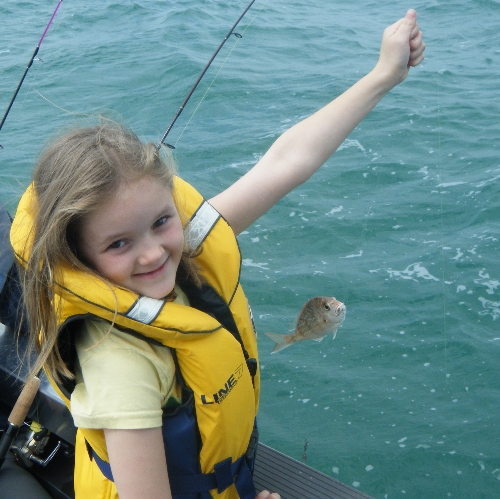 Melani's first snapper.