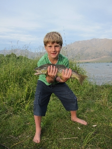 Brown Trout : New personal Best for Ben (aged 8)