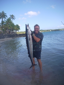 21kg Wahoo sucked the red and white storm right down!