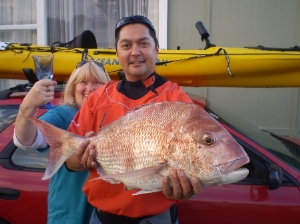 Caught 3km out of Waitarere beach from my kayak, great fight!!