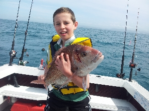 Taken the day off school and landed a 5.5kg Moocher. Priceless!