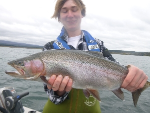 7lbs beautie caught by reese with Troutbeck fishing lodge