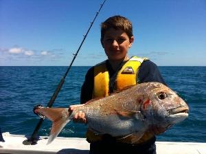 Hamishs 12 pound snapper off raglan
