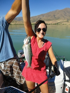 First ever catch... and trip to NZ! Trevor the trout!
