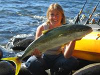 kingfish from a kayak