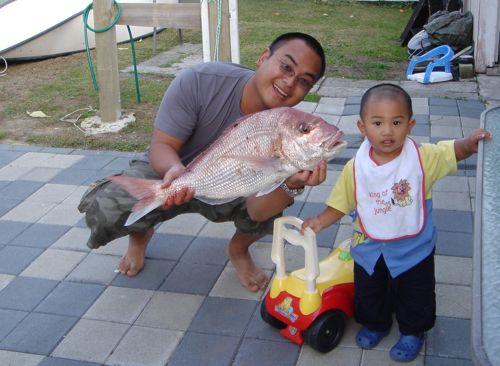 Fish = 10lb, Son = 30lb, Me = N/A