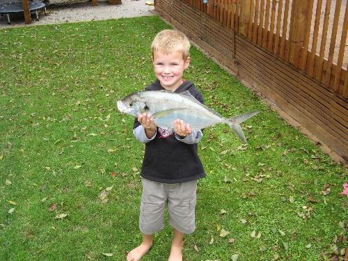 Budding Fisherman! (better than his dad)