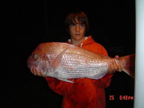18 pound snapper caught at waiheke