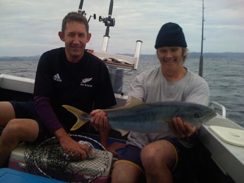 First Kingfish. Lucky Fisherman, unlucky kingi!