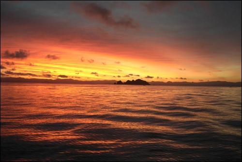 Early morning sunrise for Maraetai Fishing comp