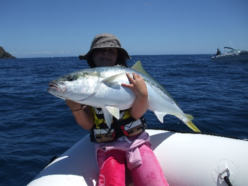 Amy with a prime kingfish