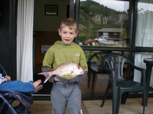 Zach's first snapper