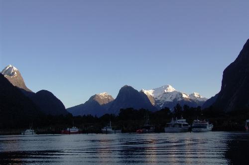 Fishermans Harbour & Mitre Peak, early morning start