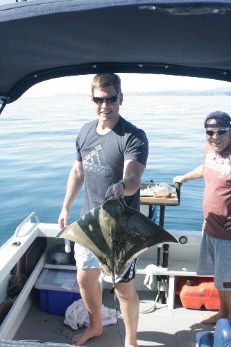 Ray Caught off Slipper Island