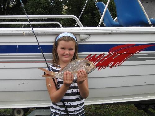 Nice 40cm fish for Charlotte on her new Okuma Rod