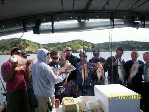 First charter for fishingclub.co.nz OREWA