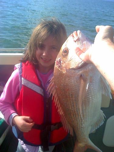 Aisha 1st fish nice catch