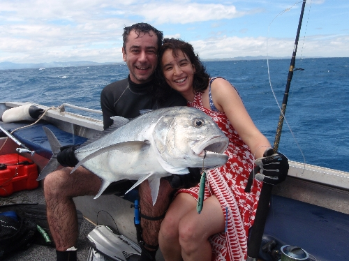 Awesome giant trevally from Fiji!