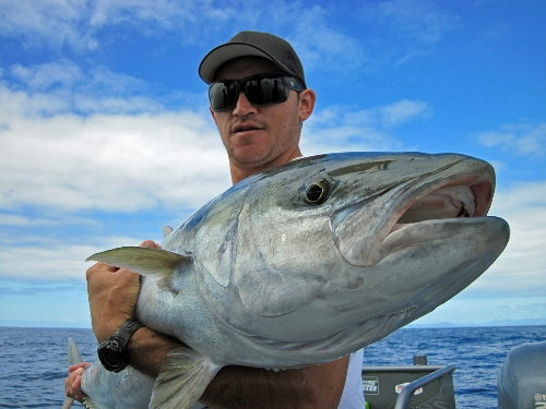 first kingfish for happy angler willie