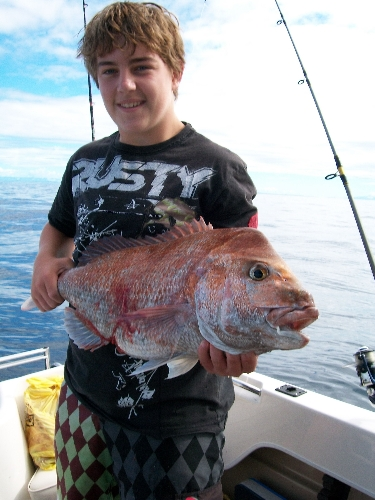 young fella's best snapper,did'nt stop smiling all day