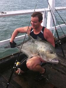 30kg GT caught of Urangan Pier, Hervey Bay