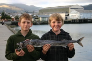 Nick Smart and Daniel Coleclough with their Barracuda