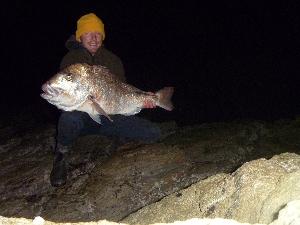 10.1kg (22bl) Moocher caught landbase fishing at night