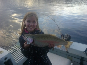 Aimee's first trout