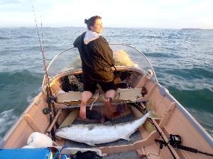 Sarah Riley's 37 kg kingfish on 15 kg ..