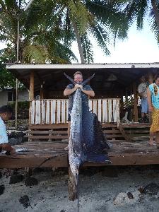 Sailfish 35kg while on a winter EQ holiday out side Viamoana