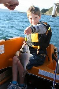 Benjamin McMillan with his first 'table' fish