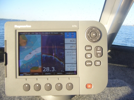 how to add way point to e97 raymarine