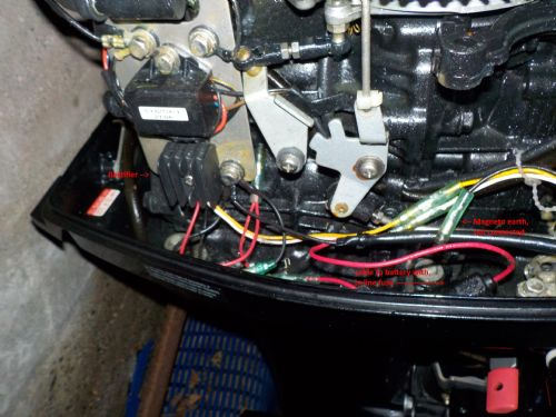 fitting rectifier to 30hp merc 2 stroke the fishing websitethe picture should show it clear enough, but the magneto isnt earthed
